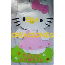 Carteles Infantiles Minnie Bb Kitty Disney Bebés En Goma Eva