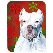 Pitbull Rojo Y Verde De Los Copos De Nieve De Vacaciones De