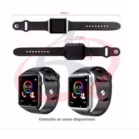 29ee22065cc Relógio Smart Watch A1 Branco - Relógios De Pulso no Mercado Livre ...