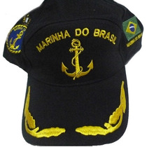 Bone Marinha Do Brasil, Boné Bordado Chapeu Marinha Preto