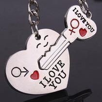Llavero Enamorados Corazon/llave 14 De Febrero