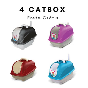 Caixa De Areia Gatos Fechada Wc Cat Box Frete Gratis 4 Unid