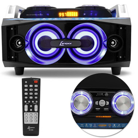 Mini Hi-fi Lenoxx Ms 8300 Bluetooth Usb Sd Fm Preto Karaokê