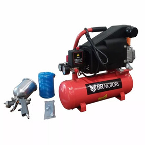 Motocompressor Rdc5.6/8l C/ Kit Pintura 220v 1hp - Br Motors