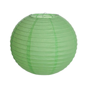 Lanterna Redonda Sem Luz - Verde - 15cm - 01 Un- Cromus