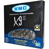 Corrente Kmc X9 Silver Bike Shimano Sram 9-vel 116elos