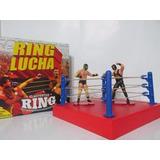 10 Luchadores 100% Lucha Nuevos En Caja Cerrada + Ring