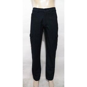 Calça Jeans Masculina Bolso Lateral Cargo Tamanhos 50 Ao 56
