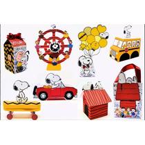 Arquivo De Corte P/ Máquina Silhouette Kit Snoopy