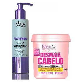 Magic Platinagem Blond Cristal 150ml + Desmaia Cabelo 24