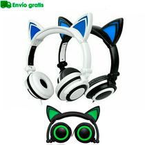 Audifonos Orejas Gato Led Envio Gratis Luz Gamer Auriculares