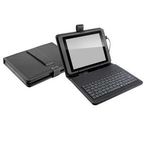 Teclado Preto Com Suporte Case Tablet 7 Polegadas Multilaser