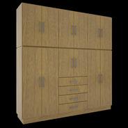 Ropero Placard Dos Cuer 12 Puertas 4 Cajones Orlandi 150/1/6