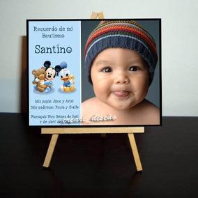 Mini Atril Souvenir Bautismo Nacimiento Bebé - Con Tus Fotos