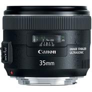 Lente Canon Ef 35mm F/2 Is Usm Em 12x C/ Recibo