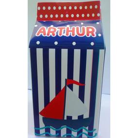 Caixa Milk Leite Personalizada Ursinho Marinheiro