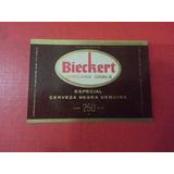 Antigua Etiqueta Cerveza Bieckert Africana Doble Negra