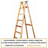 Escada Americana Madeira Elite 12 Degraus