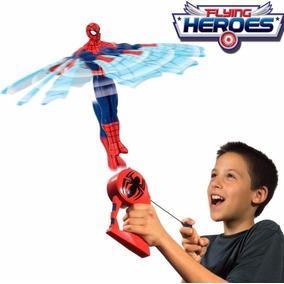 Boneco Homem Aranha Voador Flying Heroes Spider Man - Dtc