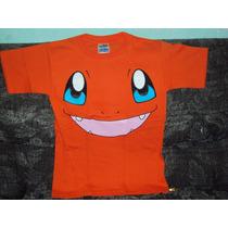 Playeras Pokemon Go Charmander Talla 6-8 Niño Dragon Ball