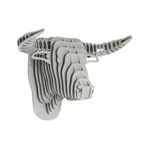 Toro Gris Cabeza Decorativa Animal Decoracion Valchromat8m