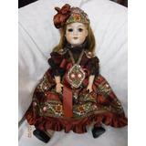 Muñeca En Porcelana Alemana Made In Germany