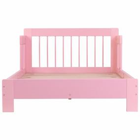 Cama Camita Infantil Niña Con Barandilla Color Rosa Kidkraft