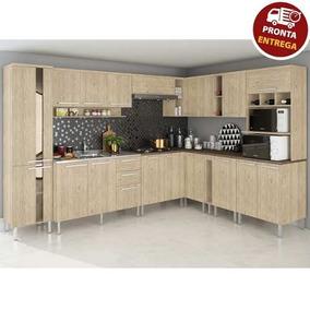 Cozinha Completa Modulada 12 Peças Mac - Carvalho Arte Cass