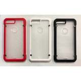 Funda Case Iphone 7 / Plus Uso Rudo Transparente + Templado