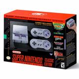 Consola Super Nintendo Classic Snes + 2 Joystick + Juegos