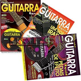 Super Curso Completo Guitarra 3 Dvds + 3 Revistas Especial