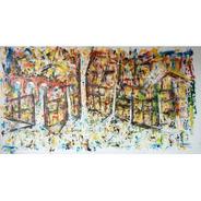 Cuadro Abstracto Pintado A Mano Cazart Original