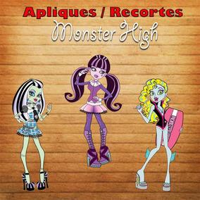 Pacote Com 20 Apliques / Recortes - Monster High