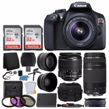 Canon Eos Rebel T6 Digital Slr Camera + Canon 18-55mm