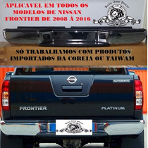 Parachoque Traseiro Nissan Frontier Novo Cromado 2008/2016
