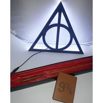 Kit Harry Potter-01 Varinha + 01 Luminária + 01 Porta Cartão