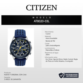 Reloj Citizen Blue Angels Eco Drive At8020-03l 60668