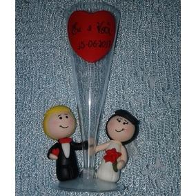Taça Para Brindar Personalizada Noivos Lembrança Padrinhos