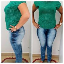 Calças Jeans Skinny Marmorizada R$59,90