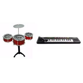 Piano Teclado Musical Infantil + Bateria Infantil