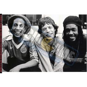 Bob Marley E Mick Jagger - Pôster Fotográfico 60 X 40 (#245)