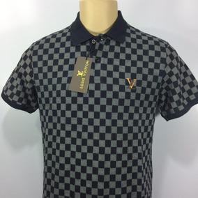 Camisa Polo Louis Vuitton Xadrez Clássica Com Etiquetas