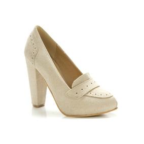Mocasin De Gamuza Con Taco Zapato Mujer Lady Comfort