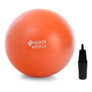 Bola Suiça Yoga Pilates Fitness 45 Cm C/ Bomba Ribermedica