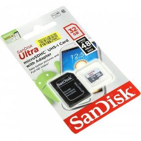Cartão Micro Sd 32gb Sandisk Classe10 - Original C Garantia