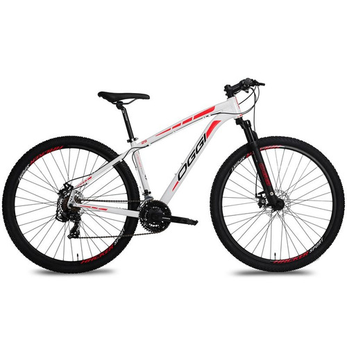 Bicicleta Oggi Hacker Sport 2017 21v Branco/vermelho Tam 17