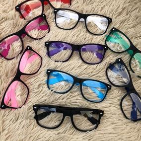 Armação De Oculos Grau Masculina Feminina Colorida Acetato d2a9afabae