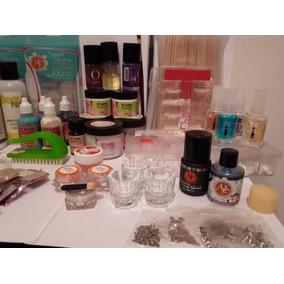 Kit Materiales Para Aplicación De Uñas Y Manicure