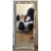 Espejo 3mm Marco Madera Recuperada 1,00mt. X 0,40cm.