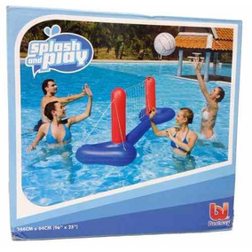Set De Voley Inflable Pileta Con Red Pelota Aire Libre